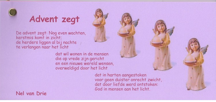 Advent zegt