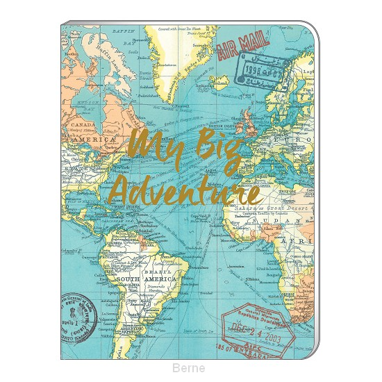 A5 Soft Cover Notebook - Vintage Map Blue