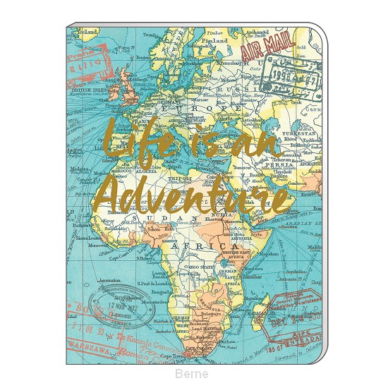 A6 Soft Cover Notebook - Vintage Map Blue