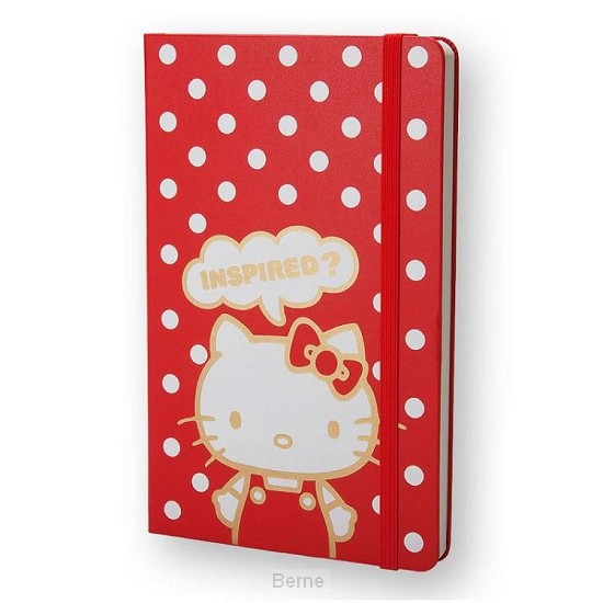 Moleskine LE Notitieboek Hello Kitty Large (13x21 cm) Blanco Rood