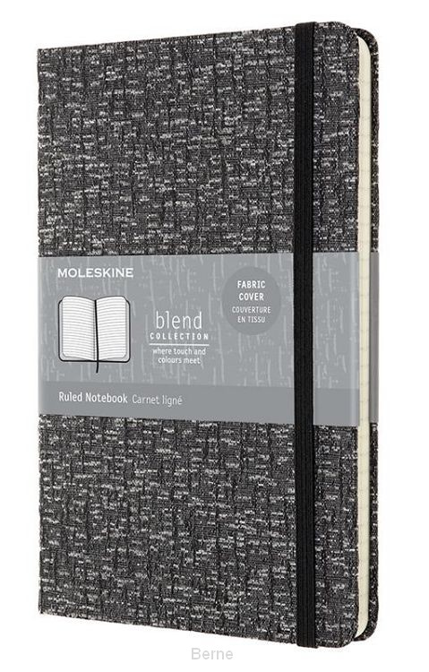 Moleskine LE Notitieboek Blend AW19 Large (13x21 cm) Gelinieerd Grey