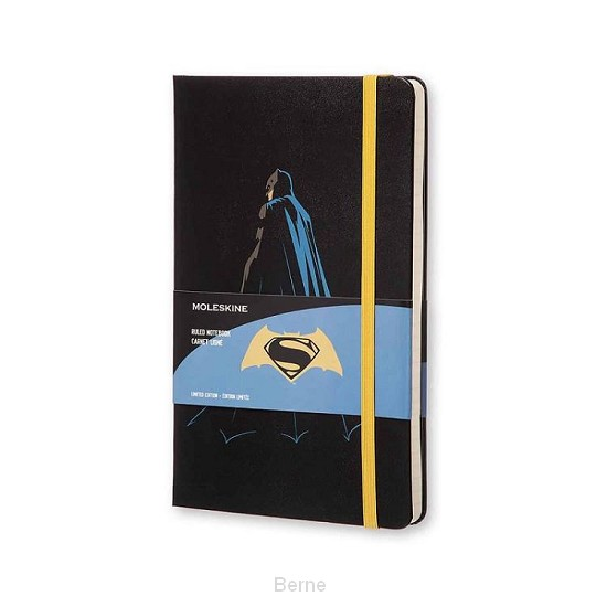 Moleskine LE Notitieboek Batman notebook Large (13x21 cm) Gelinieerd Zwart