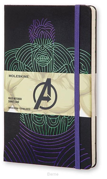Moleskine LE Notitieboek The Avengers notebook Large (13x21 cm) Gelinieerd Hulk