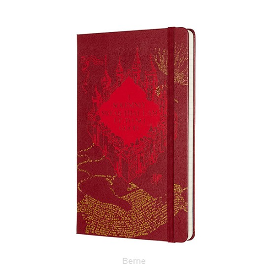 Moleskine LE Harry Potter Notebook Large Ruled Map Red