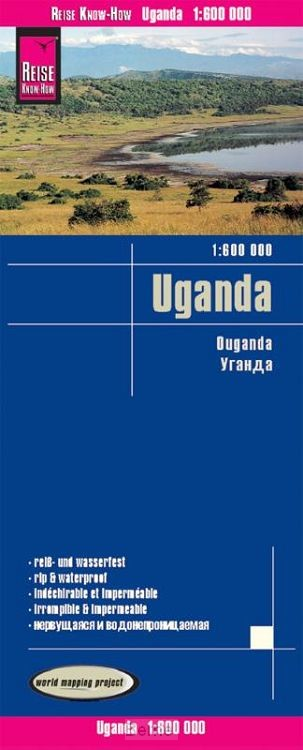 Reise Know-How Landkarte Uganda (1:600.000)