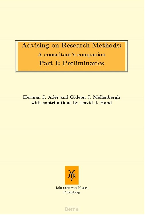 Advising on research methods: A consultant's companion / part I: Preliminaries